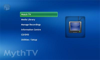 MythTV Main Menu