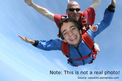A mock-up of me skydiving